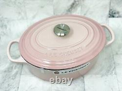 Le Creuset SHELL PINK 3.5 QT Oval Dutch Oven New Rare
