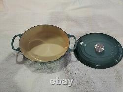 Le Creuset SIGNATURE OVAL DUTCH OVEN 6.75 Qt. 6 3/4 Sea Salt New Open Box