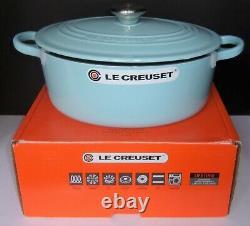 Le Creuset SKY BLUE 3.5 QT Cast Iron OVAL Dutch Oven - Brand New