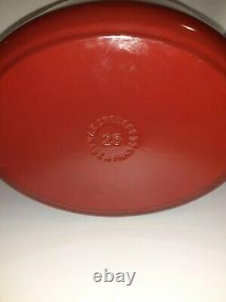 Le Creuset Signature 3.5-qt. Cherry Red Oval Wide Dutch Oven #25