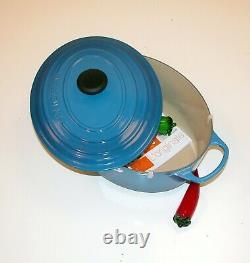 Le Creuset Signature 6¾ QT Cast Iron Oval French Oven Marseille Blue 31cm
