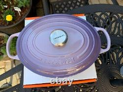 Le Creuset Signature Blue Bell Purple Provence Cast Iron Oval 5 Qt New