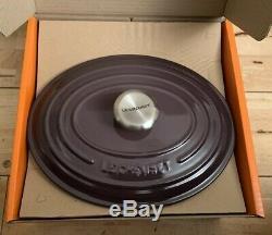 Le Creuset Signature Cast Iron 27cm Oval Casserole Cassis (BNIB)