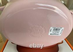 Le Creuset Signature Cast Iron 27cm Oval Casserole Chiffon Pink (NO BOX)