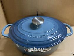 Le Creuset Signature Cast Iron 27cm Oval Casserole Marine (New In Box)