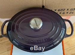 Le Creuset Signature Cast Iron 29cm Oval Casserole Cassis (BNIB)