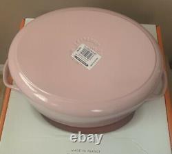 Le Creuset Signature Cast Iron 31cm Oval Casserole Chiffon Pink NEW