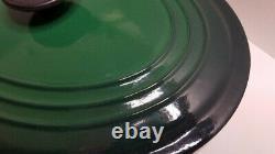 Le Creuset Signature Cast Iron 5 Quart Oval Dutch Oven Juniper Green