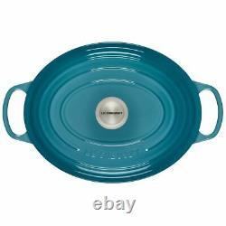 Le Creuset Signature Cast Iron 6 3/4-qt Oval Dutch Oven, Caribbean Blue