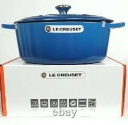 Le Creuset Signature Cast Iron 8 Qt Oval Dutch Oven Marseille Blue NEW