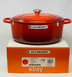 Le Creuset Signature Cast Iron 9 1/2-qt Oval Dutch Oven, Cherry Red