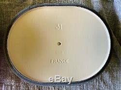 Le Creuset Signature Cast Iron Fleur Oval Oven, 3.75-qt, Matt White