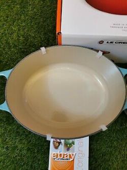 Le Creuset Signature Cast Iron Oval Casserole 27cm Teal (NEW)