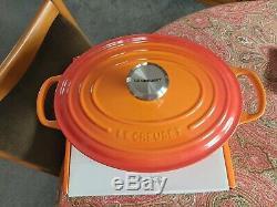 Le Creuset Signature Cast Iron Oval Casserole Dish 27cm VOLCANIC ORANGE BNIB