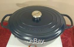 Le Creuset Signature Cast Iron Oval Dutch Oven 6.75 Quart Matte Navy NEW