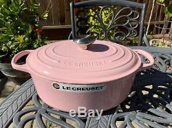 Le Creuset Signature Cast Iron Oval Dutch Oven Chiffon Pink 5 Qt 29 New