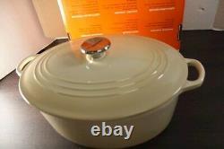 Le Creuset Signature Dune (Almond) 6 3/4 Qt Enamel Cast Iron Dutch Oven #31