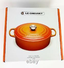 Le Creuset Signature Dutch Oven 5qt Deep Teal Color, Oval, 5 Quart, Unused