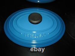 Le Creuset Signature Marseille Blue 3-1/2 Qt Oval Wide Dutch Oven #27 NEW