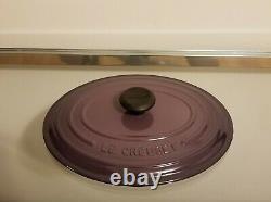 Le Creuset Signature Oval 3.5 QT Cast Iron Dutch Oven #25 CASSIS Purple NEW