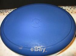 Le Creuset Signature Oval Dutch Oven Marseilles Blue #29, 5 Quarts Excellent