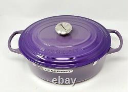 Le Creuset Signature Ultra Violet 6.75Qt Oval Dutch Oven Cast Iron NIB