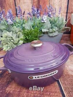 Le Creuset Signature oval dutch oven in ultraviolet 5qt, rare collection