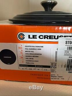 Le Creuset Signsture oval dutch oven Aubergine 3.5 qt rare NIB