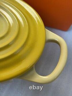 Le Creuset Soleil Oval Casserole Cast Iron Cocotte 1QT, new&rare