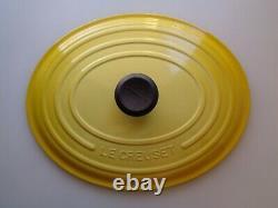 Le Creuset Soleil Yellow Enameled Oval Cast Iron Dutch Oven 8 Qt New Open Box