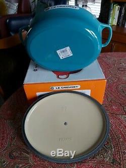 Le Creuset TEAL Signature Cast Iron 27cm Oval Casserole Dish BNIB