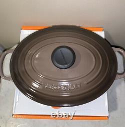 Le Creuset TRUFFLE 3.5 Qt. Oval Shallow Dutch Oven. Signature Style
