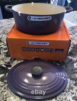 Le Creuset Ultra Violet Cast Iron Oval Casserole with Lid 29cm / 4.7L