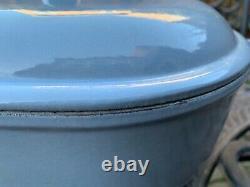 Le Creuset Vintage Oval Cast Iron Blue La Mama Cocotte 25 Rare
