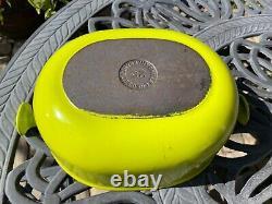 Le Creuset Vintage Oval Cast Iron Green La Mama Cocotte 25 Rare