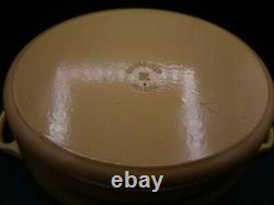 Le Creuset Yellow Enamelware Oval Dutch Oven Casserole Roaster #31 w lid 6.75 Qt