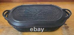 Lodge Cast Iron Deep Fish Fryer 3060 Sportsman Wildlife Mallard Duck LID VARIANT