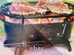 Lodge Sportsman's Cast Iron Grill BBQ Outdoors Portable Made in USA