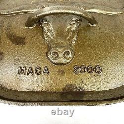 MACA Deep Oval Dutch Oven with Longhorn Design Lid Vintage 2000 10 X 14 X 8