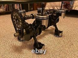Man Cave V8 Crankshaft Engine Coffee Table Automotive Furniture Block