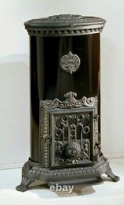 NEW French 10kw Godin 3727 Stove Cast Iron Wood Burner Coal multifuel Oval Black