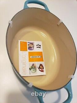 NEW Le Creuset 5 quart OVAL Dutch Oven RARE TURQUOISE RETIRED COLOR
