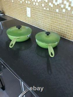 NEW Le Creuset PALM Cast Iron Oval fish Skillet, 15 3/4 with LID