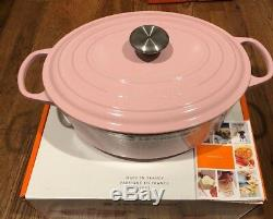 NEW Le Creuset Signature Cast Iron 6.75 qt Oval Dutch Oven CHIFFON PINK