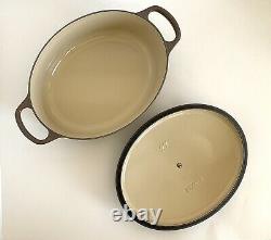 NEW Le Creuset Special Color Truffle Wide Oval Cast Iron Dutch Oven 27cm 3.5qt