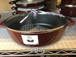 NEW Staub Cast Iron 4.25 quart ESSENTIAL OVAL French Oven Cocotte GRENADINE