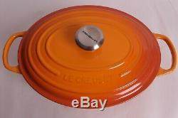 NIB Le Creuset Signature Cast-Iron Oval Dutch Oven, 6 3/4-Qt, Persimmon orange