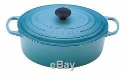 NIB Le Creuset Signature OVAL Dutch Oven, Turquoise BLUE, 5 quart
