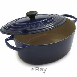 NIB Le Creuset Signature Oval Dutch Oven, 6.75 qt, Indigo BLUE
