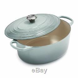 NIB Le Creuset Signature Oval Dutch Oven, 6.75 qt, Sea Salt